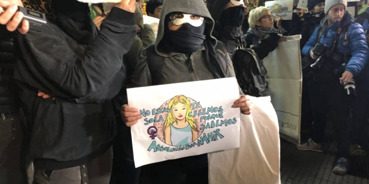 """""""La Una menos... que no fue"""": marcha a favor de Nahir Galarza pidió la absolución de la jóven"""