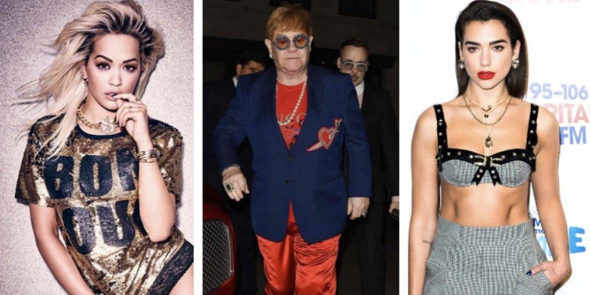 Elton John, Rita Ora y Dua Lipa sufren la derrota de la selección de Inglaterra