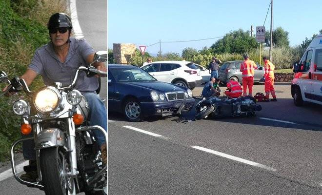 Publican vídeo del accidente automovilístico de George Clooney