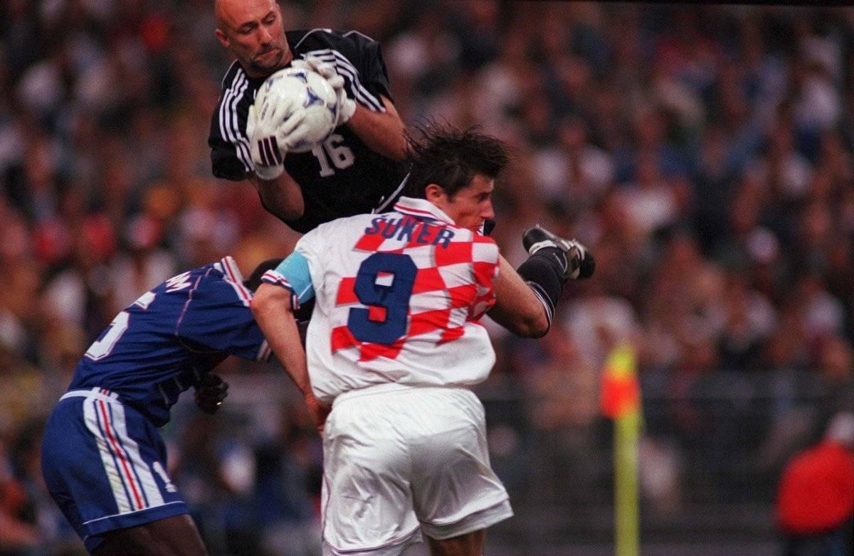 Davor Suker jugando la semifinal de 1998 ante Francia / Foto: Getty Images