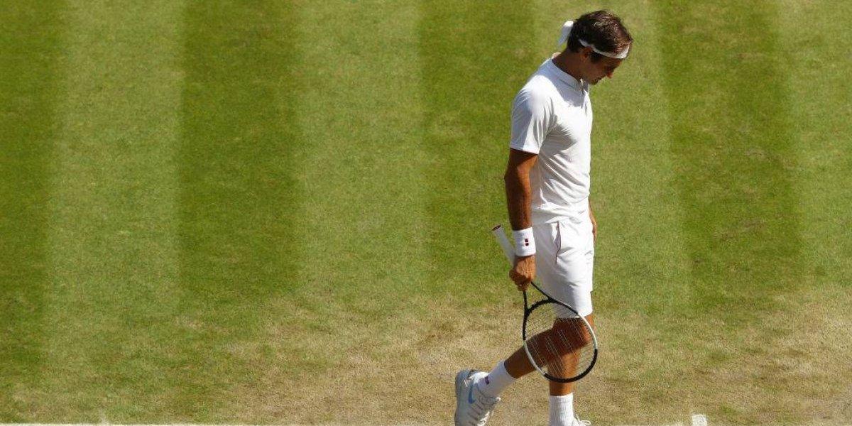 Fin de una era: Federer cae en una maratón ante Anderson y se despide de Wimbledon