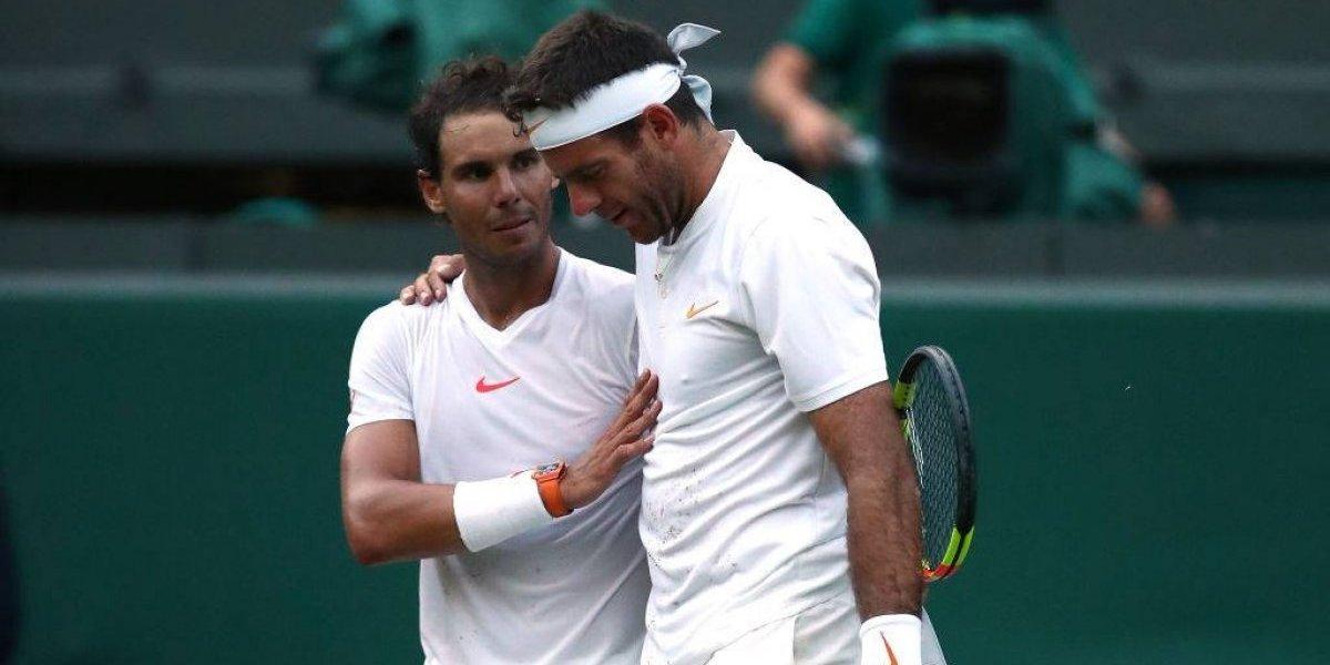 """Nadal eliminó a Del Potro en un partido inolvidable y jugará otro """"clásico"""" con Djokovic en Wimbledon"""