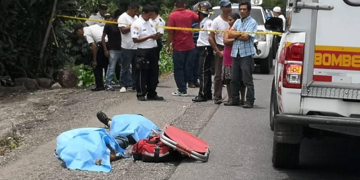 Tres personas mueren en Cuilapa tras ser atacadas a balazos