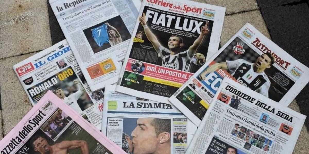 Prensa italiana se rinde a la Juventus tras el fichaje de Cristiano Ronaldo