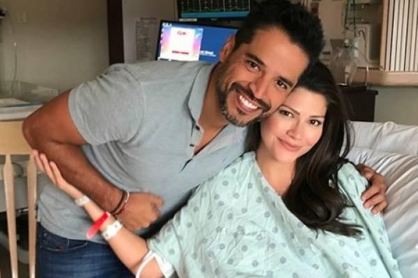 Ana Patricia junto a su esposo Luis Carlos Martínez a horas de la llegada de Gael Leonardo. Foto: vía Instagram