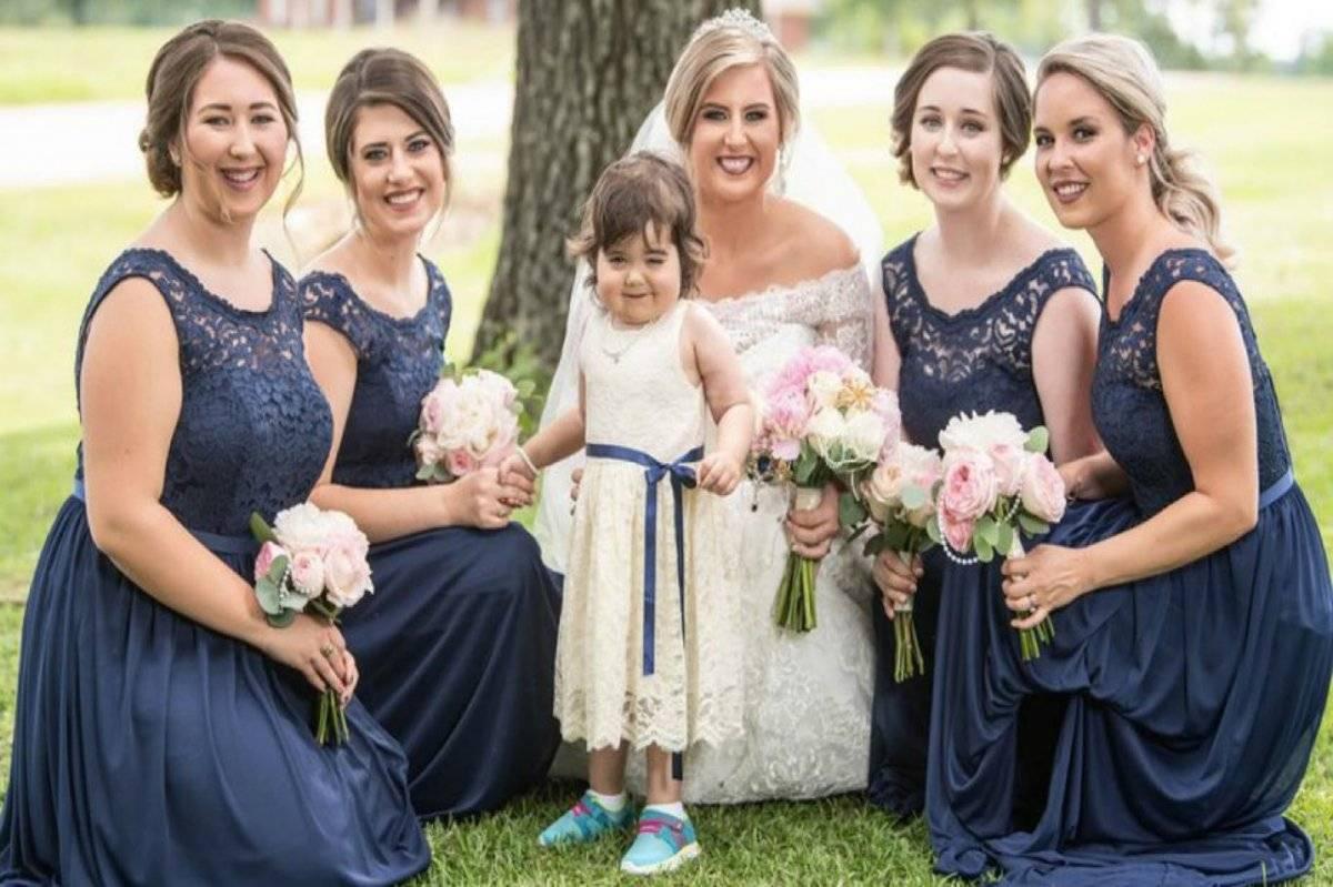 Niña leucemia boda