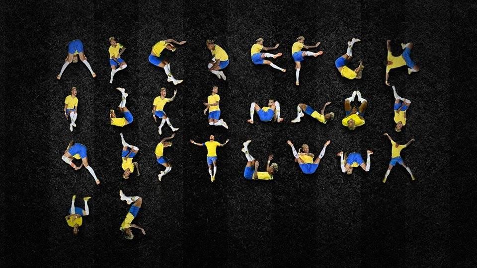Crean tipografía con caídas de Neymar Facebook Luciano Jacob