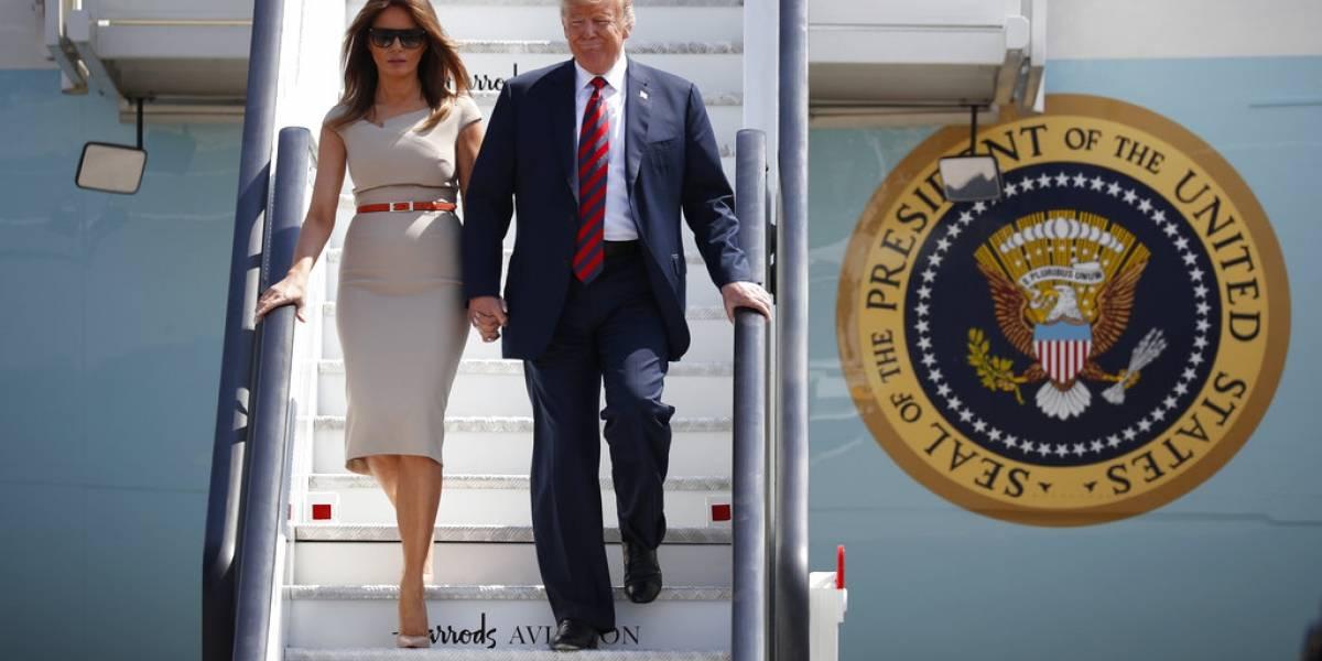 Melania Trump copia el look de Meghan Markle y el de una princesa de Disney