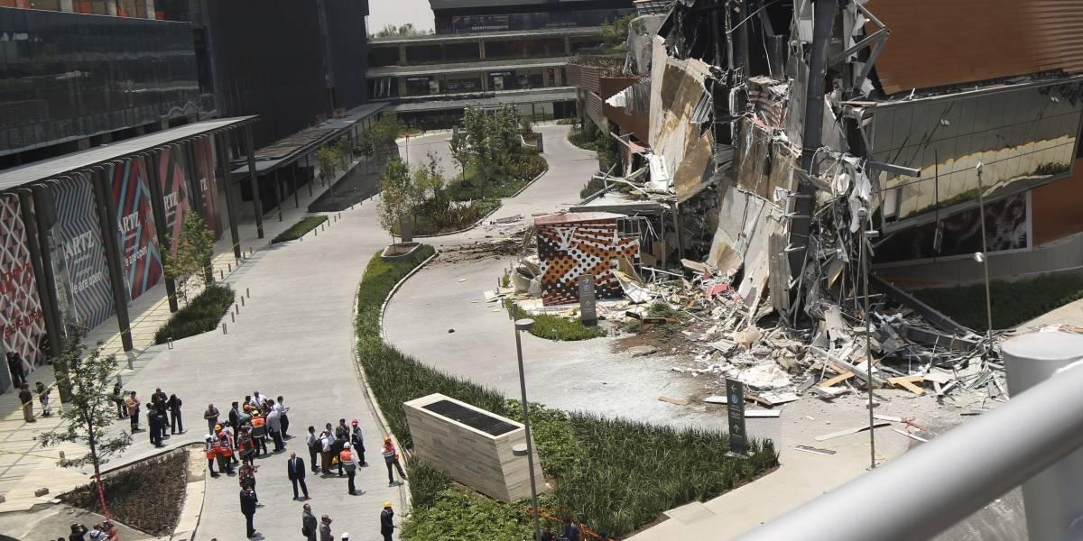 Videos registran impactante derrumbe en mall de Ciudad de México inaugurado hace pocos meses