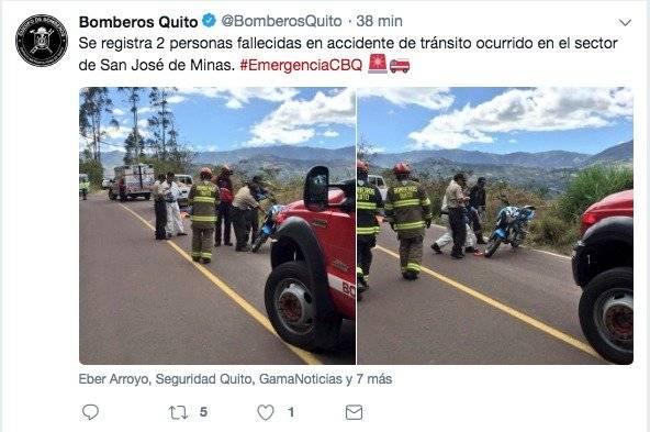 Accidente San José de Minas