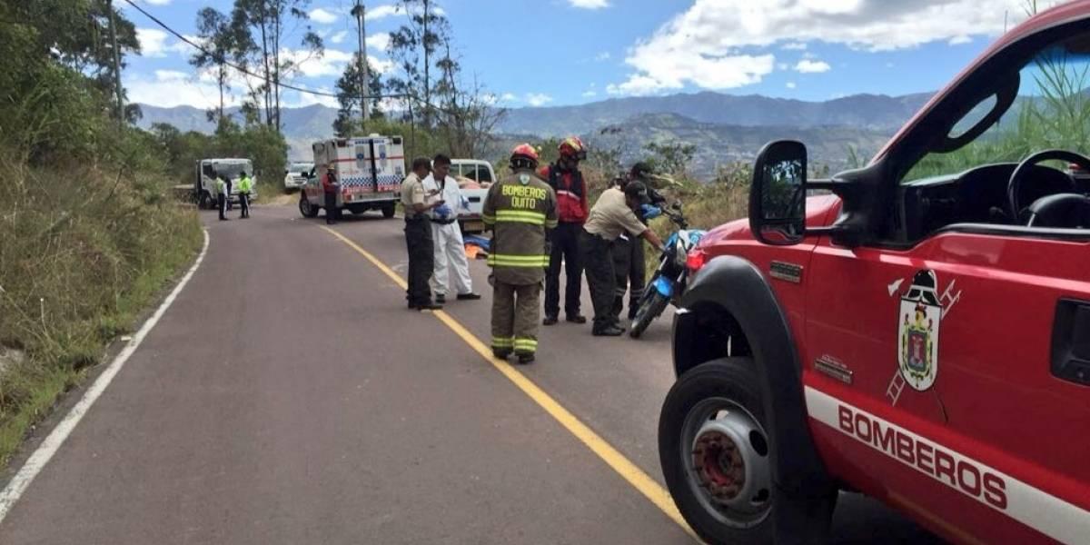 Quito: Dos fallecidos por accidente de tránsito en San José de Minas
