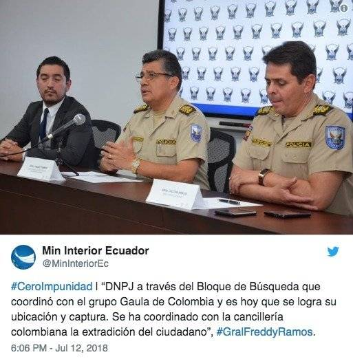 Capturan en Colombia un implicado en la desaparición de David Romo Twitter