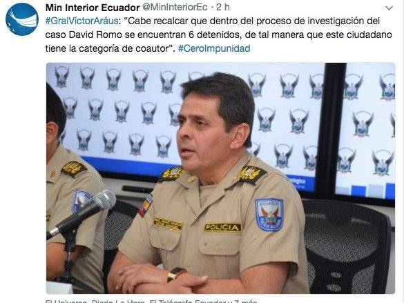 Capturan en Colombia un implicado en la desaparición de David Romo
