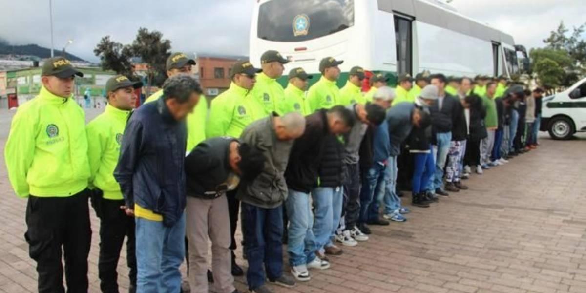Policía capturó a banda que operaba bajo insólita estrategia para distribuir estupefacientes