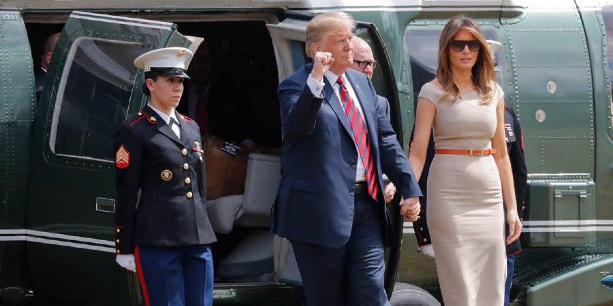 Donald Trump llega a Gran Bretaña en medio de tensiones con la OTAN