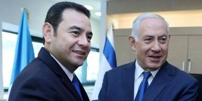 presidente Jimmy Morales en inauguración de embajada en Israel