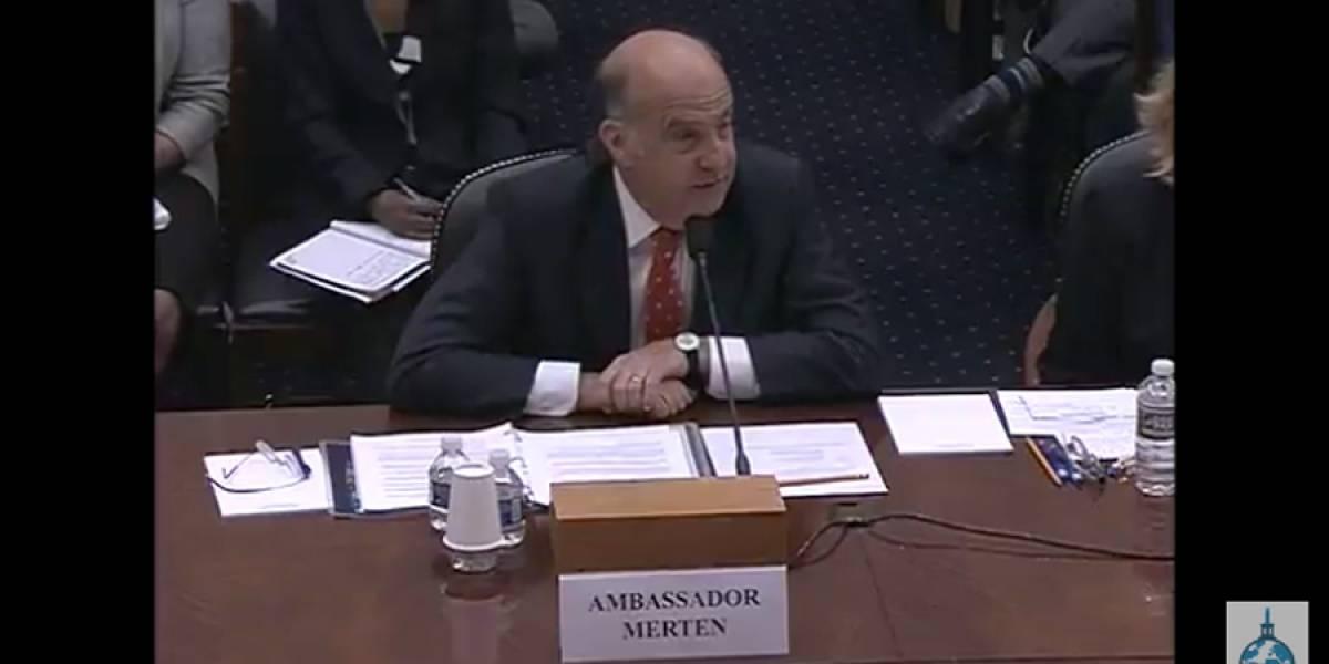 """""""No encontramos indicio de una confabulación"""", Kenneth Merten del Departamento de Estado de EE.UU."""