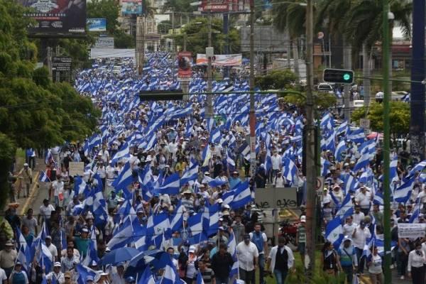 Marcha en Managua