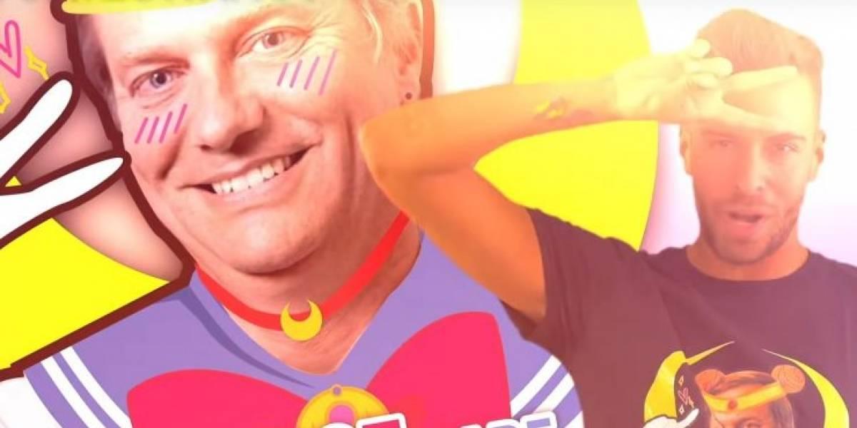 Video: Youtuber lanza poleras de José Antonio Kast vestido como Sailor Moon