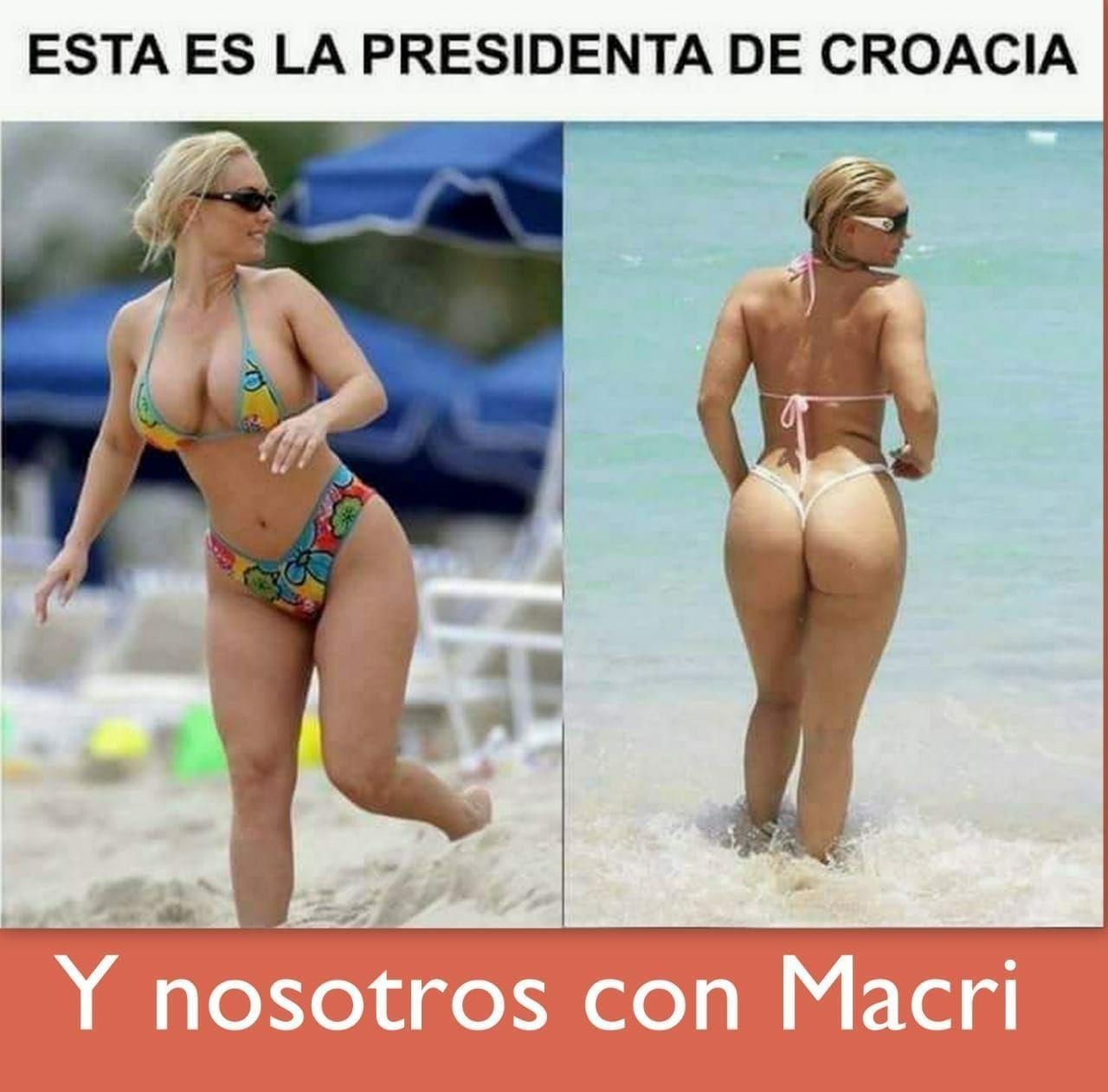 Fotos falsas de la presidente de Croacia en bikini rondan en internet tras la victoria de su selección