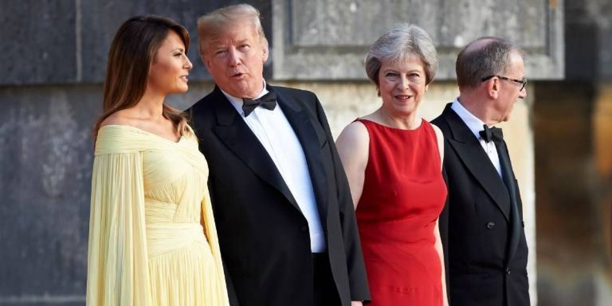 Primer ministra del Reino Unido insiste ante Trump en un acuerdo de libre comercio