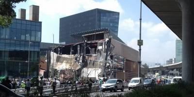 Las imágenes más relevantes del desplome en Plaza Artz