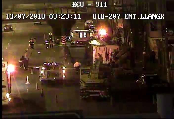 Cierre de vía en Panamericana Norte tras accidente de bus ECU 911
