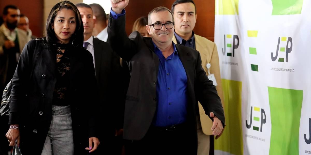 Timochenko pide perdón por secuestros de las Farc en primera cita ante la JEP