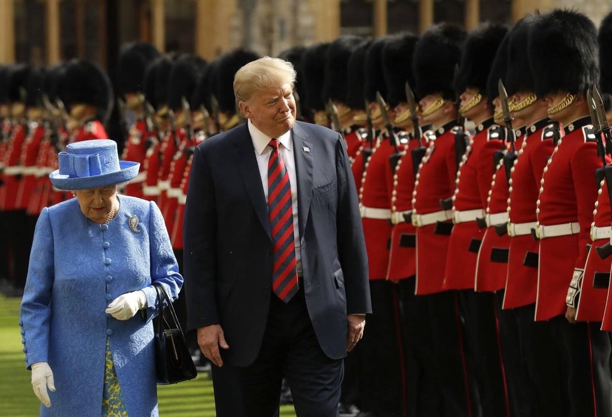 Trump reina Isabel II
