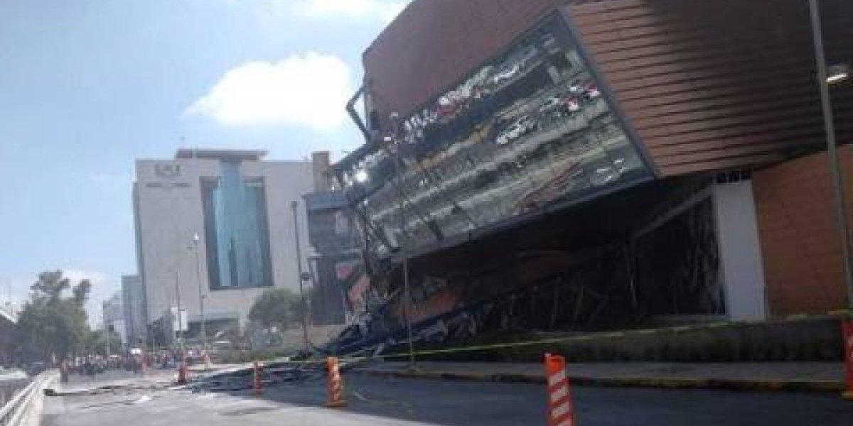 VIDEO. Momento exacto del derrumbe del local de Andrea Legarreta en centro comercial