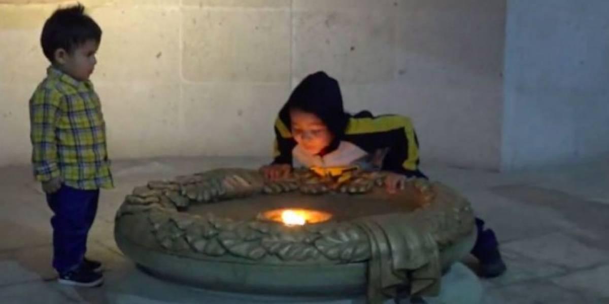 En México, un niño apagó un fuego histórico que ardía desde hace 200 años