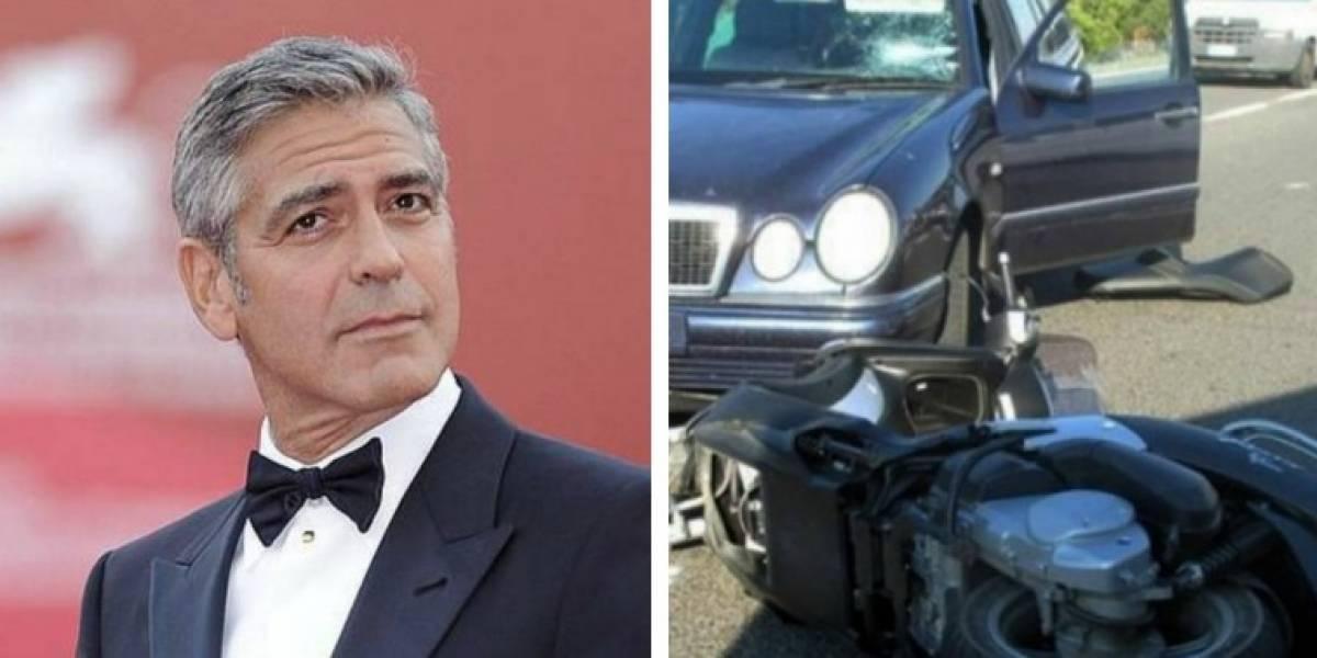 El impactante video que muestra el fuerte accidente sufrido por George Clooney