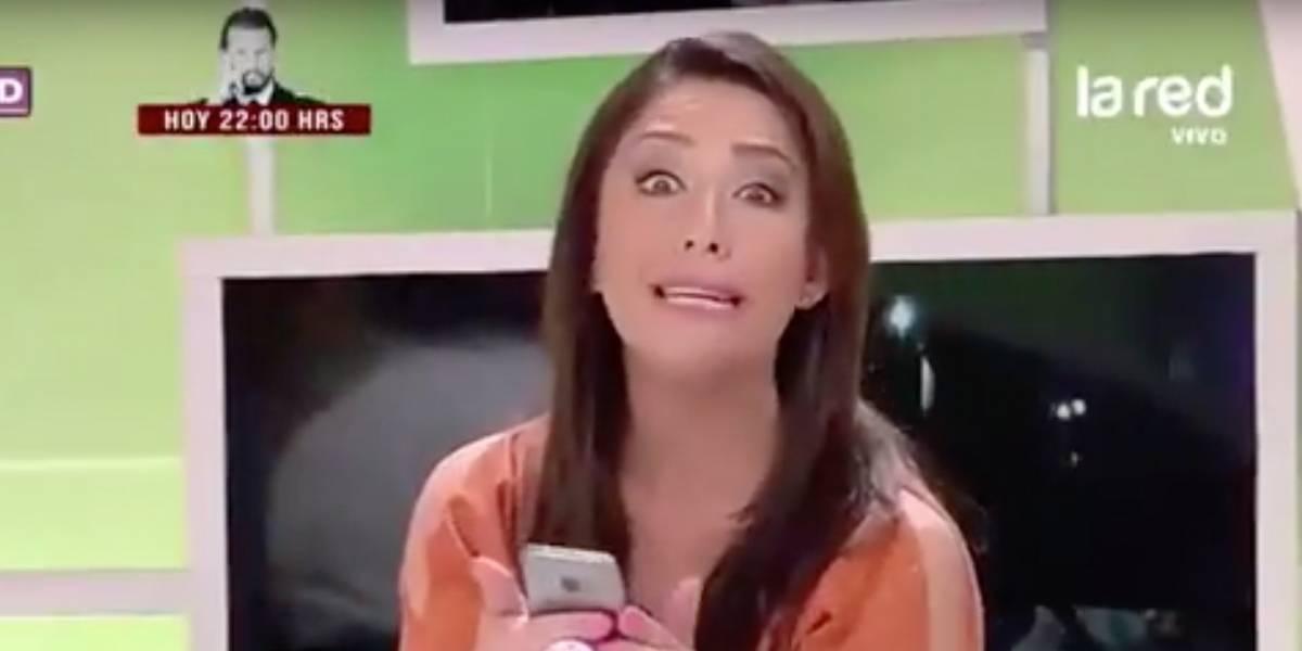 Presentadora de TV cae en broma de gemidos de WhatsApp en vivo
