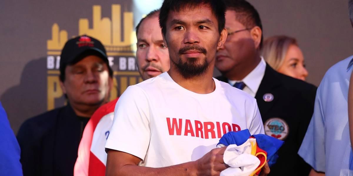 A qué hora, dónde y contra quién pelea Manny Pacquiao