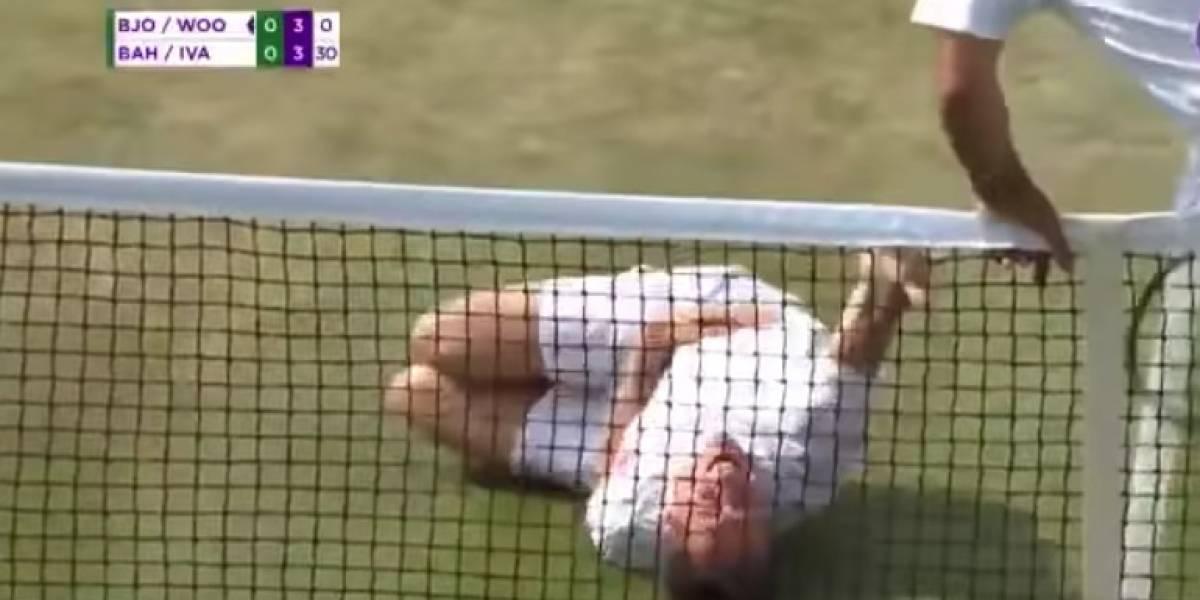 Tenista aplica el ´Neymar Challenge´en Wimbledon