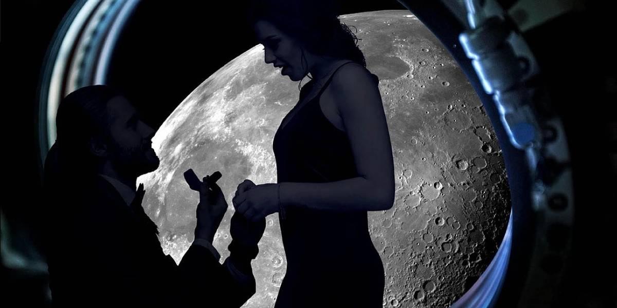 ¿Te atreverías a hacer una propuesta de matrimonio en el espacio?