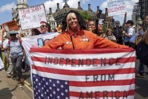 Protestas en Londres Contra Trump