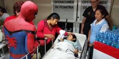 Hombre Araña en Guatemala