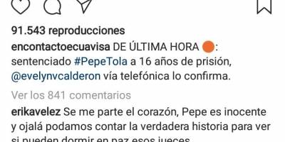 Reacciones Pepe Tola