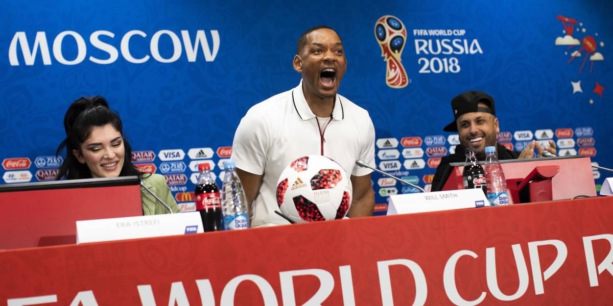 Will Smith sorprendió en el Mundial y reconoció su amor por Cristiano