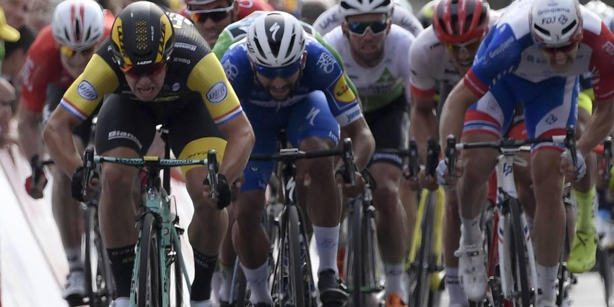 Sprint de infarto en el cierre de la octava etapa del Tour