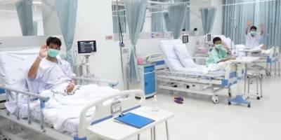 Niños tailandeses se recuperan