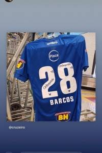 Hernán Barcos ya luce su camiseta del Cruzeiro