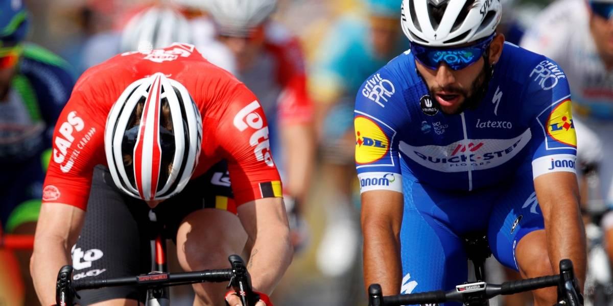Video: Por este embalaje, Fernando Gaviria fue descalificado en el Tour de Francia