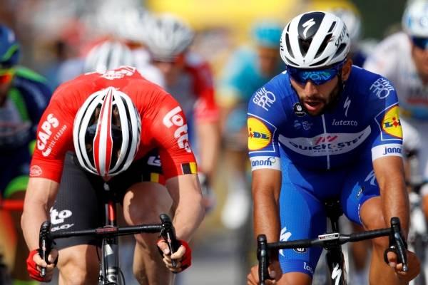 Final de la etapa 8 del Tour de Francia