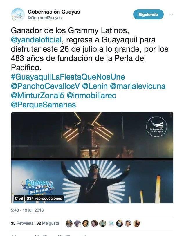 Yandel dará concierto gratuito en Guayaquil