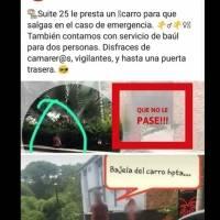 Mujer esperando fuera de motel de Colombia se viraliza
