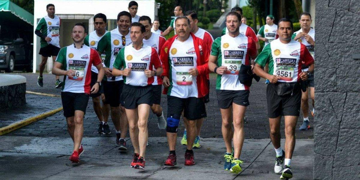 Peña Nieto mantiene promedio en la Carrera Molino del Rey