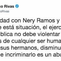 Pronunciamiento del exministro de Gobernación, Francisco Rivas Lara, por la captura del hermano del exdirector de la PNC, Nery Ramos.