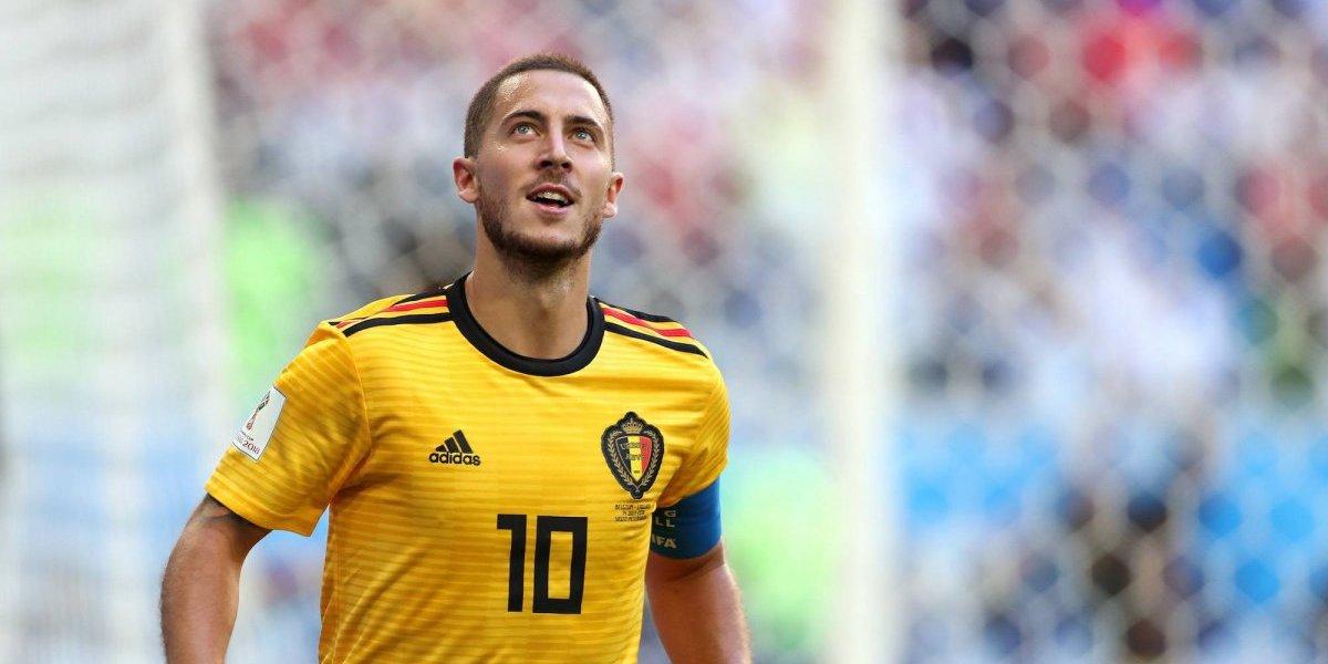 Eden Hazard celebra triunfo de Bélgica de manera inusual